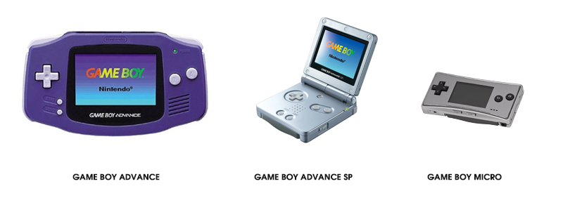Evolution de la Gameboy de 2001 à 2005