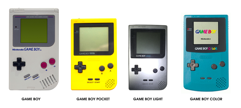 Evolution des consoles Gameboy